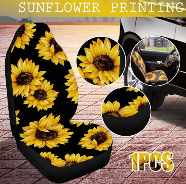 Universal Seat Cover Sun Flower Printed Accessory Replacement For Van SUV Cars|  - title=