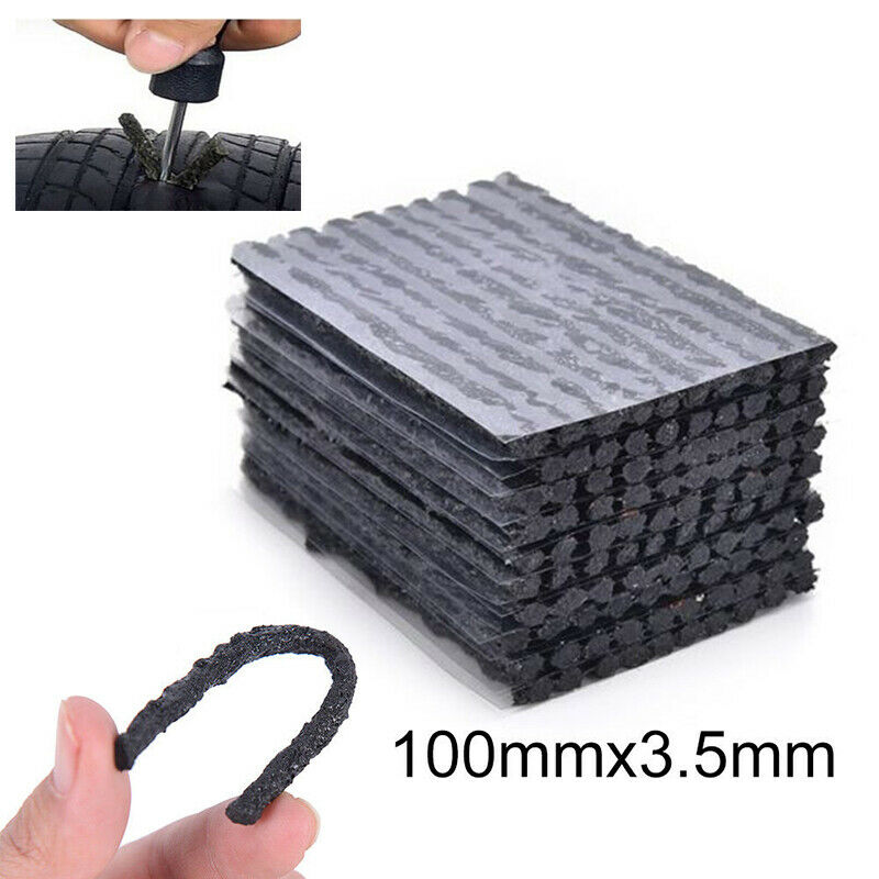50Pcs Car Bike Tyre Tubeless Seal Strip Plug Tire Puncture Repair Recovery Kit