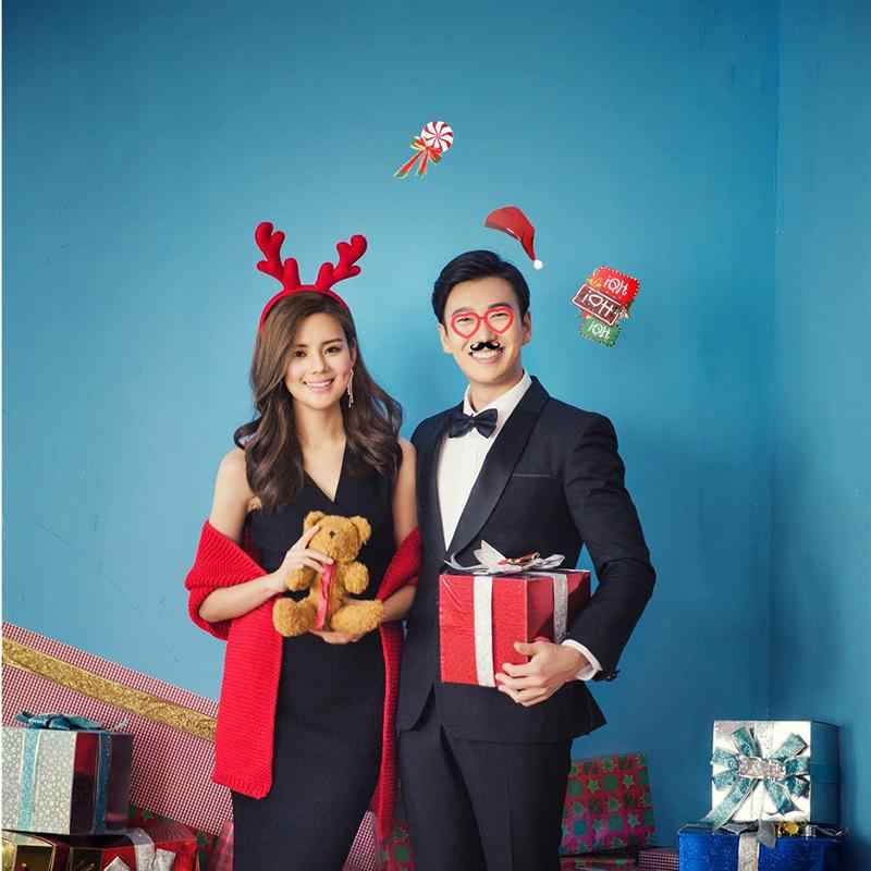 38Pcs 2020 חג המולד תמונה אבזרי שנה טובה ערב המפלגה מצחיק סנטה בצורת כובע גרבי זקן קרני קישוט אבזרי