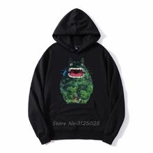 Nowe słodkie bluzy Totoro Cartoon 3D Harajuku codzienna bluza z kapturem jesień zima mężczyźni bluza polarowa z kapturem Streetwear Anime bluzy tanie tanio CN (pochodzenie) Pełna Na co dzień Drukuj REGULAR hooded zipper COTTON Octan NONE