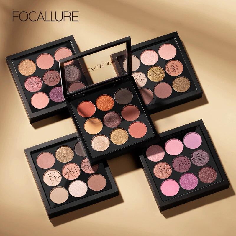 FOCALLURE 9 видов цветов Палитра теней для макияжа Палитра теней для век матовые и мерцающие дымчатые тени для век Палитра|palette matte|eyeshadow palette|shadow palette - AliExpress