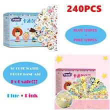 2 Sets 240PCS Cartoon Waterproof Bandage Band-Aid Hemostatic Adhesive For Kids Children wound bandage wound bandage band aid цена