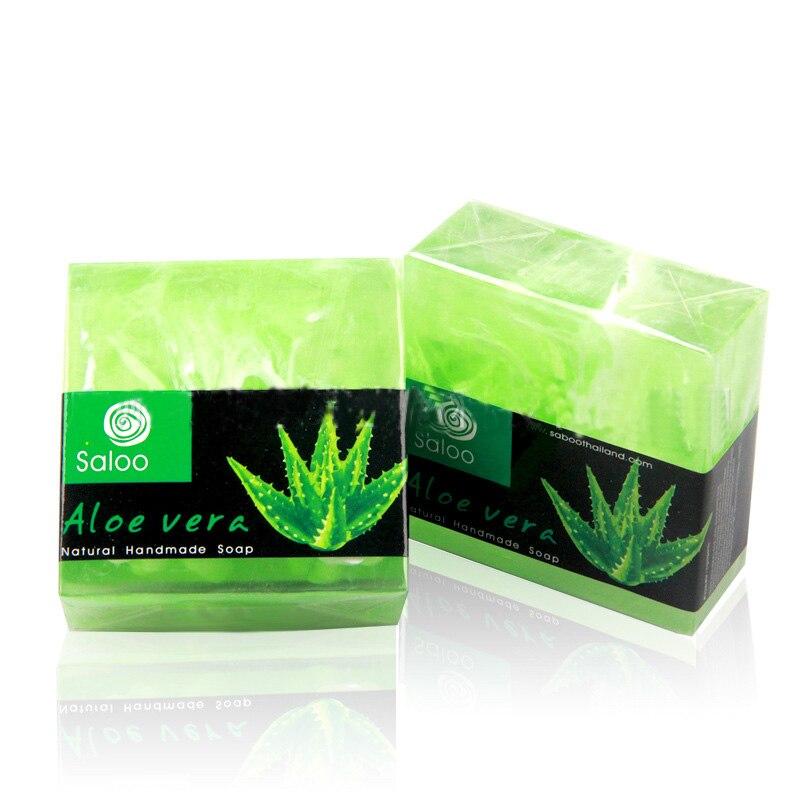 100g Handmade Aloe Soap Aloe Vera Oil Soap Whitening Spots Fade Moisturizing Cleansing Moisturizing Soap Skin Skin Handmade W4W1