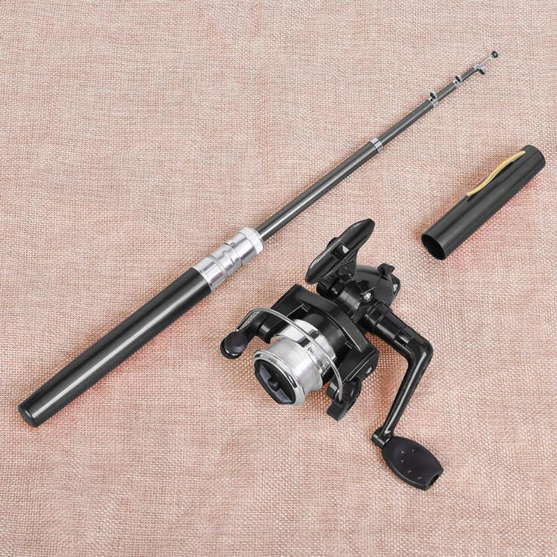 Pen-Set Fishing-Rod Mini Pocket Spinning with River Pesca Portable title=