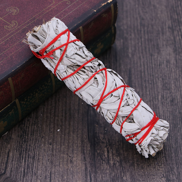 American California White Sage Smudging Wands Sticks Sage Smudge Stick For Cleansing Burning (32g Heavy Small Bundle) 4