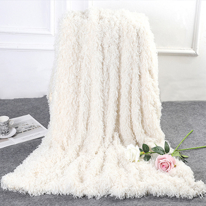 Image 3 - 2019 New Super Soft Shaggy Decorative Background Blanket Long Shaggy Fuzzy  Elegant Cozy With Fluffy  Bed Sofa Bedspread Sheet