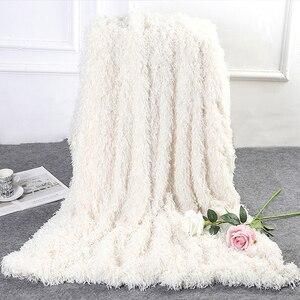 Image 3 - Новинка 2019 года, супермягкое ворсовое декоративное фоновое одеяло, длинное ворсистое пушистое элегантное уютное покрывало с пушистой кроватью, диваном, простыней
