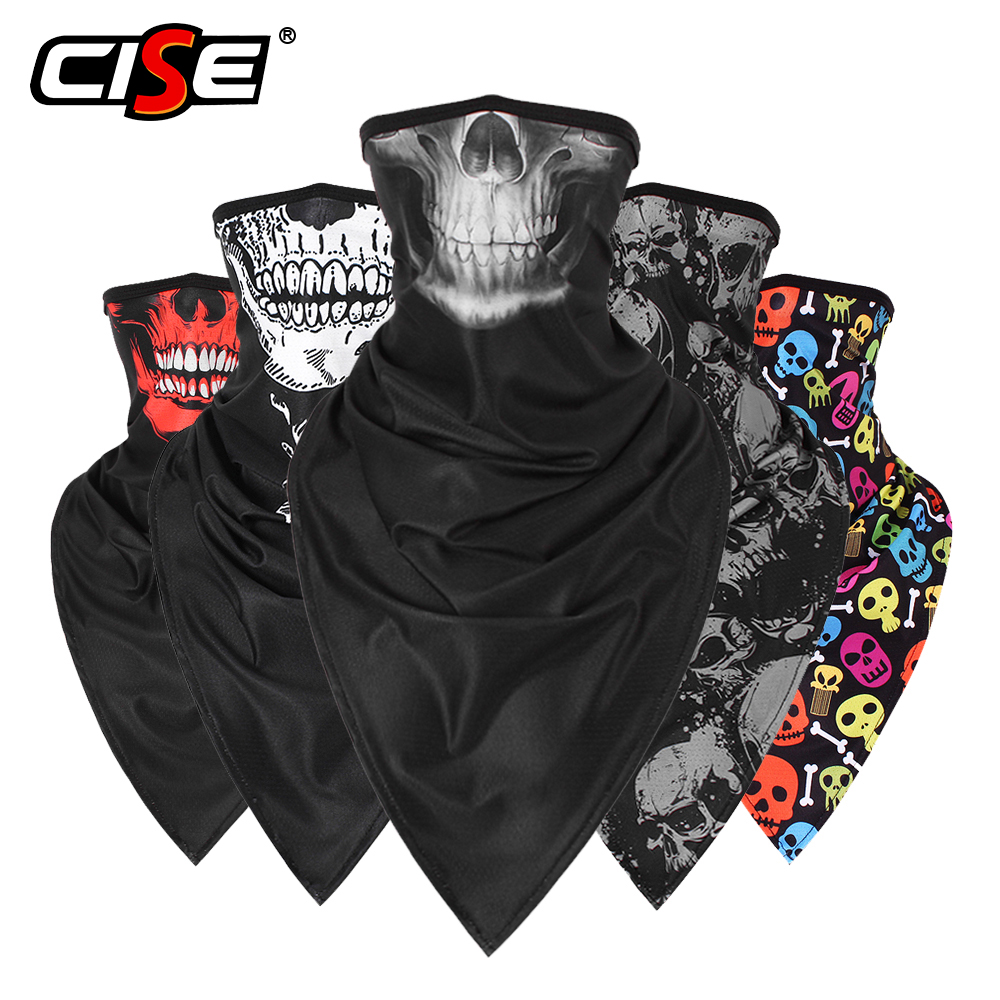 Skull Ghost Balaclava Headband Motorcycle Moto Neck Gaiter Face Shield Tube Scarf Motocross Biker Bandana Head Mask Men Girls