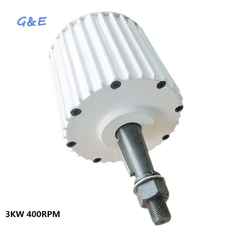 PMG 48V 96V 120V 220V 230V 240V 3KW 3000W Generator 400RPM Permanent Magnet Alterantor With DC rectifier For DIY