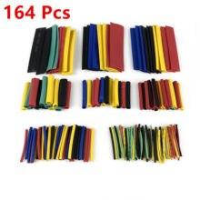 164 Pcs Schrumpf Schlauch Kit Assorted Wasserdichte Elektrische Draht Isolierung Sleeving Polyolefin Wrap Schrumpfung 2:1