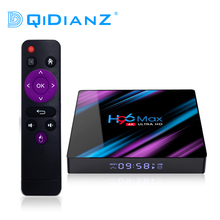 DQiDianZ Android 10 H96 MAX RK3318 4 Core 2,4G/5G WiFI 4G 64GB Android tv box 2.4/5,0G WiFi Bluetooth 4,0 h96max TV BOX