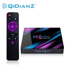 DQiDianZ Android 10 H96 MAX RK3318 4 Nhân 2.4G/5G WiFI 4G 64GB Android Tv hộp 2.4/5.0G WiFi Bluetooth 4.0 H96max TV Box
