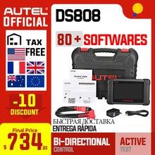 Autel maxidas ds808 obd2 scanner automotivo obd 2 ferramenta de diagnóstico do carro leitor código obdii injector codificação chave programação pk ms906