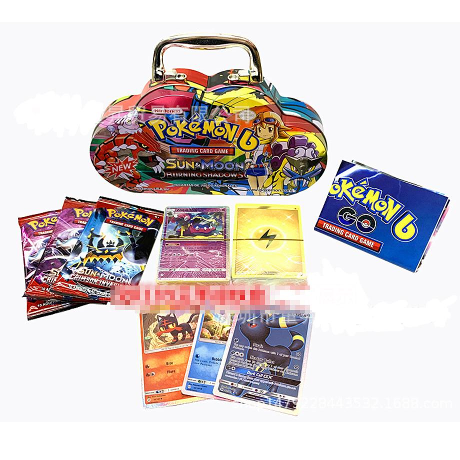 Pokemon English Version Of The Cloud Iron Box Battle Collection Card PTCG Action Figure Child Toy Gift