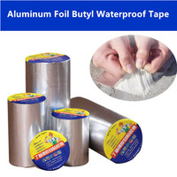 25pcs 10cmX10m Aluminum Foil Butyl Rubber Tape Self Adhesive Waterproof tape for Roof Pipe Repair Stop Leak Sticker