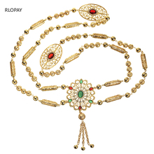 Neue Mode Stil Marokkanischen Hochzeit Schulter Schmuck für Frauen Gold Hohl Muster Strass Schmuck Bh