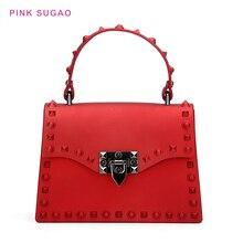 цена на Pink Sugao Luxury Handbags Women Bags Designer Fashion Jelly Bag For Women Shoulder Bag Ladies Hand Bag Tote Bag Rivet Purses