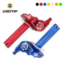 Универсальные алюминиевые ручки акселератора ZSDTRP 22 мм CNC, ручки для мотоцикла, мопеда, скутера, велосипеда M10 * 1,5