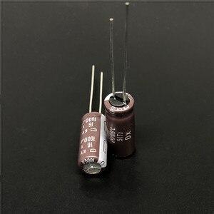 Image 2 - 10 шт. 1000 мкФ 16 В NIPPON NCC серия KY 8x20 мм низкий ESR 16V1000uF алюминиевый электролитический конденсатор