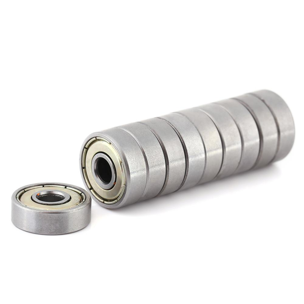 10 Pcs/set Metal Shielded Durable Multi-Use Carbon Steel Miniature 626ZZ Ball Bearings 6x19x6mm