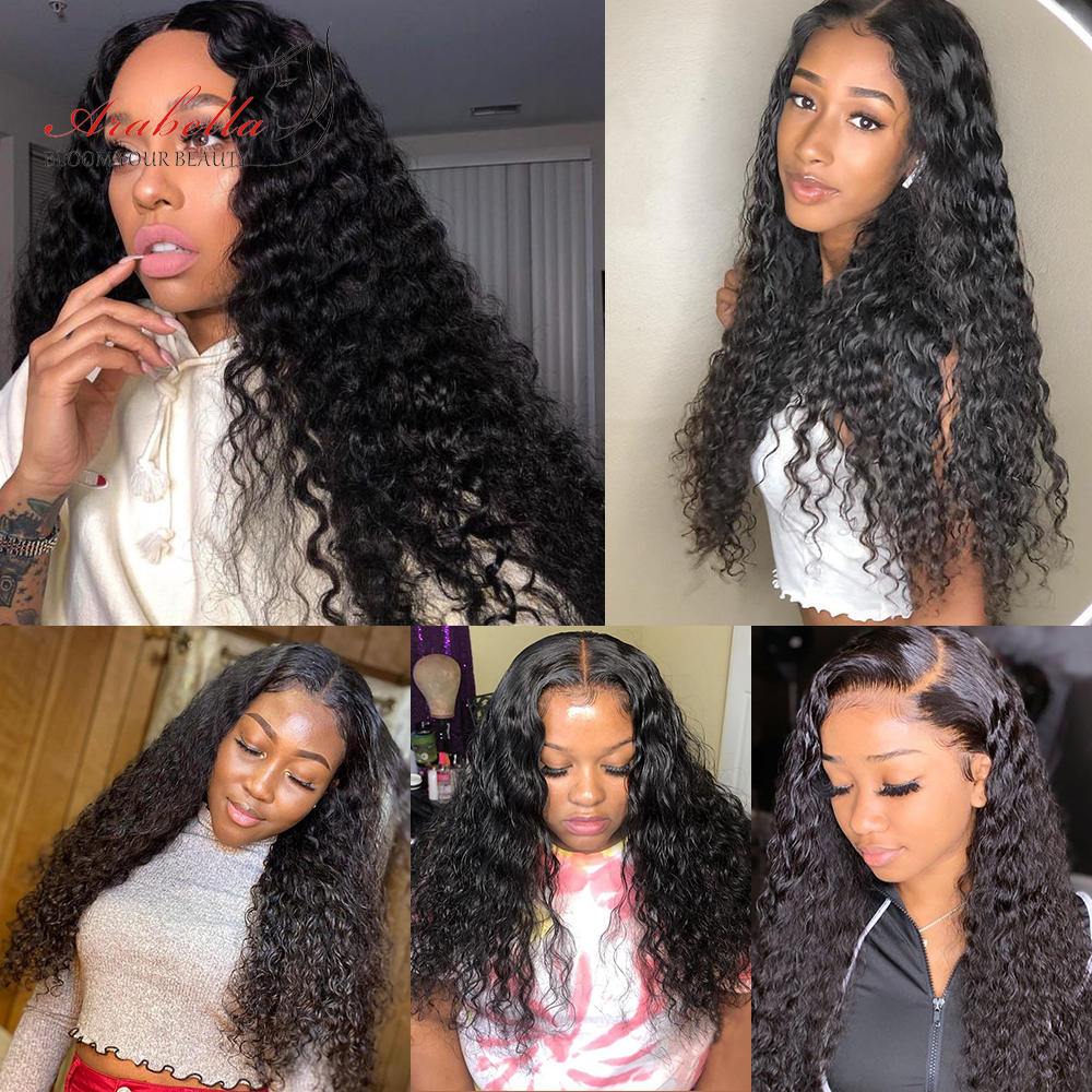 13*4 Water Wave Lace Front Wig Pre Plucked Bleached Knots  Wigs For Woman Arabella  Lace Frontal Wig 4