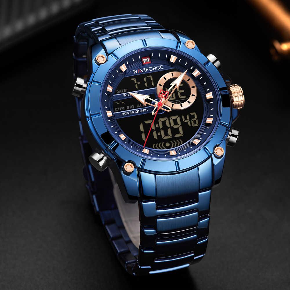Homens Relógios NAVIFORCE Marca de Topo Mens Relógio Do Esporte Da Moda À Prova D' Água Data de Luxo Relógio de Pulso de Quartzo Masculino Relógio Relogio masculino