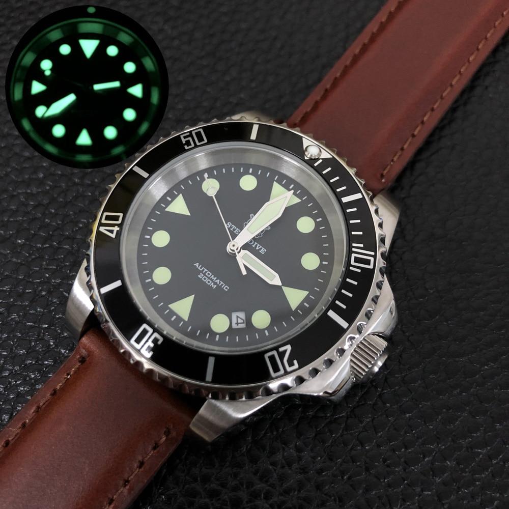 STEELDIVE mens dive wrist watches,sport men quartz watch 200m waterproof wristwatch Switzerland luminous clock top luxury brand
