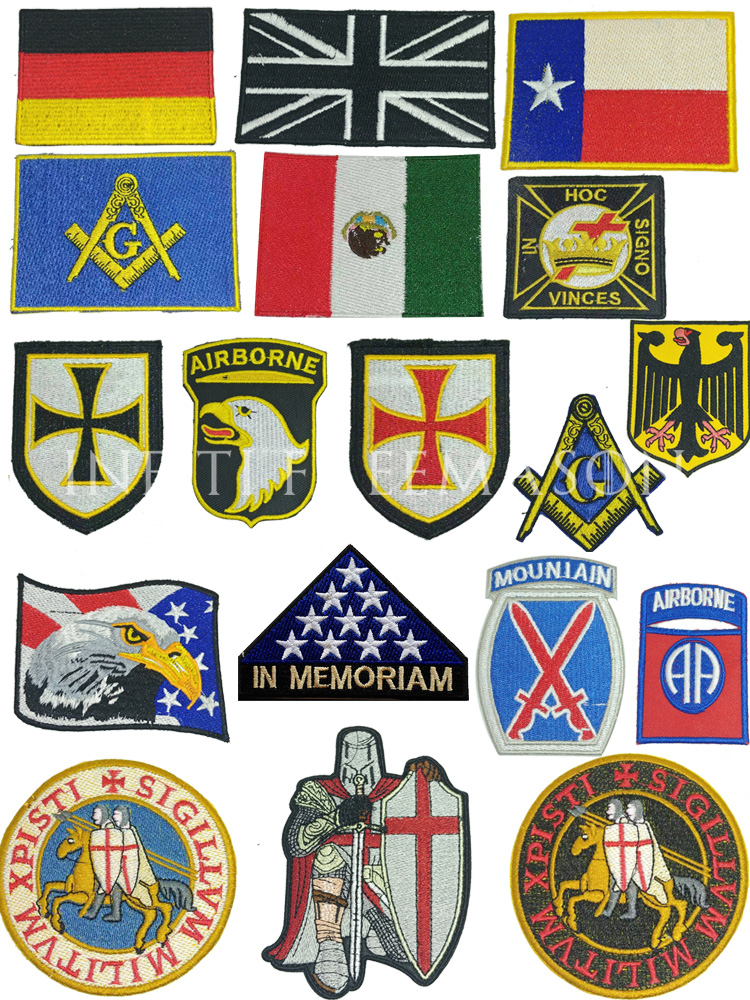 1 Piece Of Fashion Embroidery Flag Patch Tactical Logo Applique Patching Clothes Patch Suitable For Clothes Bags, Etc.