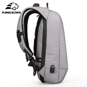 Image 3 - Kingsons mały plecak Laptop 13.3 15.6 Cal mężczyźni kobiety biznes wypoczynek podróże plecaki wewnętrzna kieszeń plecak torba studencka