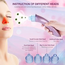 Blackhead Remover Vacuum Pore Cleaner Face Cleaning Blackhead Acne Removal Suction Black Spot Cleaner Facial Care Tool Skin Care(China)
