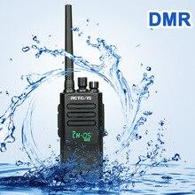 높은 전원 DMR 라디오 디지털 IP67 방수 워키 토키 Retevis RT50 디스플레이 UHF 복스 공장 창고 농장에 대 한 양방향 라디오