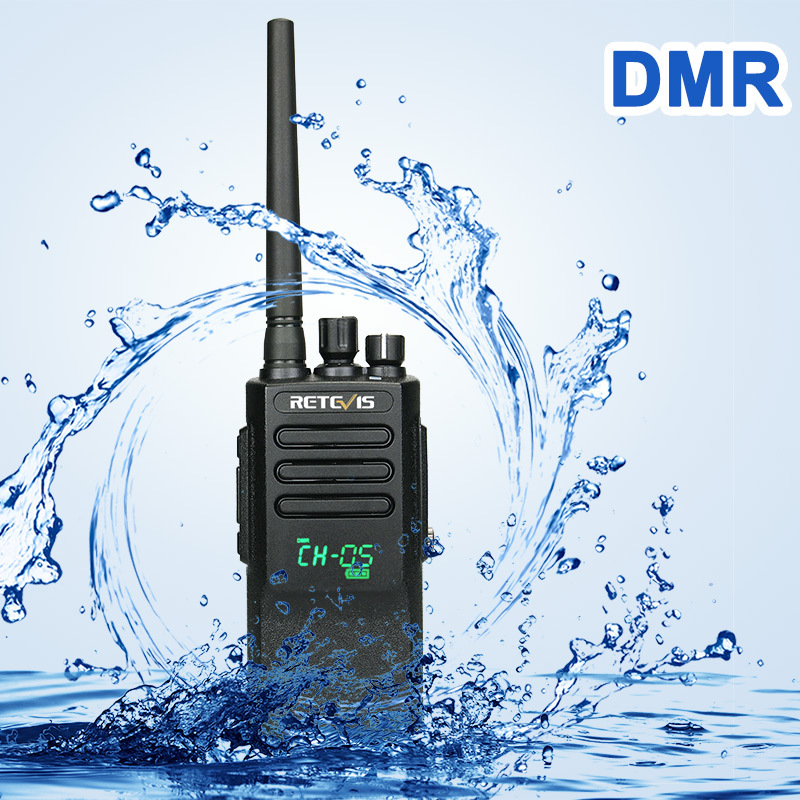 High Power DMR Radio Digital IP67 Waterproof Walkie Talkie Retevis RT50 Display UHF VOX Two Way Radio For Factory Warehouse Farm