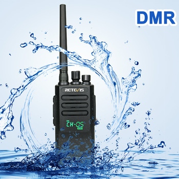 High Power DMR Radio Digital IP67 Waterproof Walkie Talkie Retevis RT50 Display UHF VOX Two Way For Factory Warehouse Farm - discount item  20% OFF Walkie Talkie
