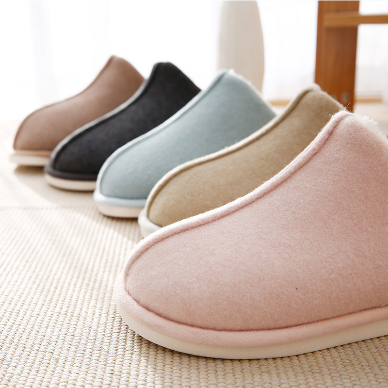 Women 39 s Shoes Winter Plus Size 43 44 Memory Foam PVC Comfy Fur Slippers For Ladies Solid Short Plush Casual Home Slippers Woman in Slippers from Shoes