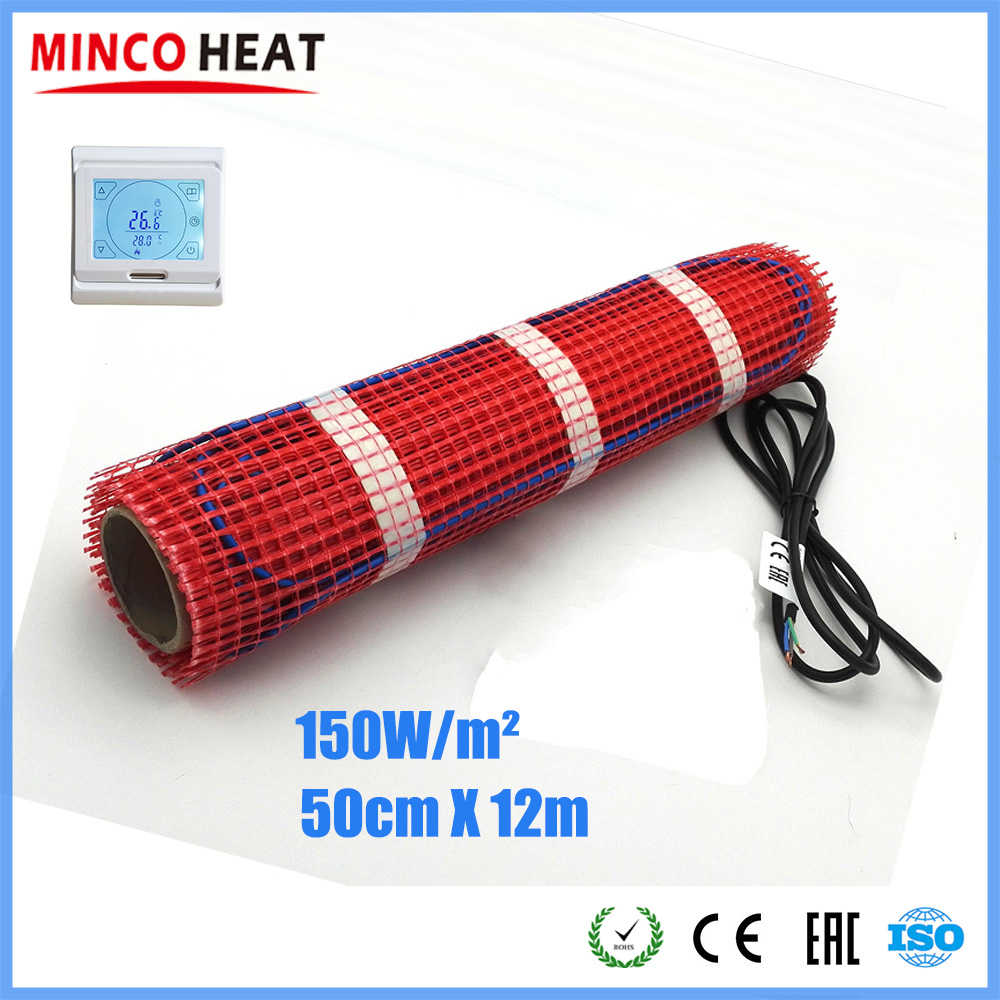 Minco Heat 12m X 50cm High Quality FEP Two Conductors Heating Rug For Underfloor Home Warming