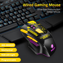 Mouse da gioco Meccanica 8 Programmabile Bottoni 4800DPI Del Mouse Battlegrounds Gamer Mouse per il PC Del Computer(China)