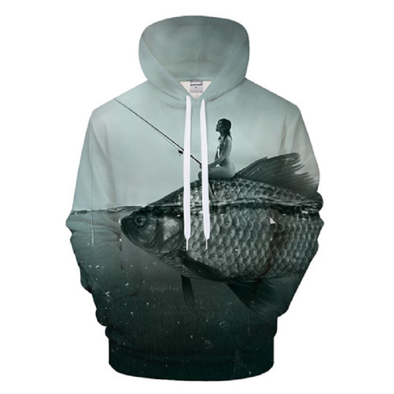 2019 New 3D Printing Tropical Fish HD Sunset Fishing Casual Style Men's And Women's Hoodie Autumn Asian Size 6XL Free Shipping