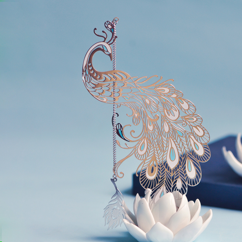 Peacock metal bookmark creative literature, retro, little fresh Chinese style classical gifts