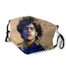 Masque de football Superstar maradona, filtre, masque buccal, respirant, harajuku