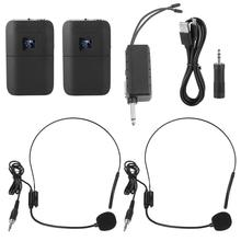 ไมโครโฟนSem Fio 2ช่องแบบพกพาไร้สายUHFไมโครโฟนหัวไมโครโฟนตัวรับสัญญาณแบบพกพา