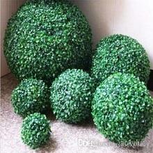 40CM 16 inç yapay plastik Milan çim şimşir topu öpüşme topu bahçe ev dekor için düğün noel Bar parti dekor