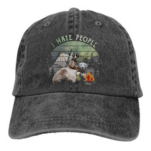 I hate people Cotton Cap Baseball Cap Snapback Hat Summer Cap Hip Hop Fitted Cap Camp Beer Loving Bear Hats For Men Women(China)