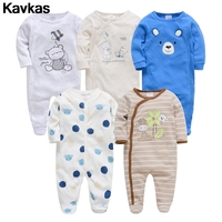 Kavkas 2019 100% cotten ready stock 0 12m Cute boy in high quality baby clothing crawl suit