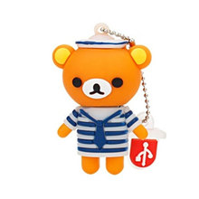 цена на cute bear type Usb disk memory stick Pendrive 128g USB 2.0 4GB 8GB pen drive 16GB 32GB 64GB cartoon usb flash drive holiday gift