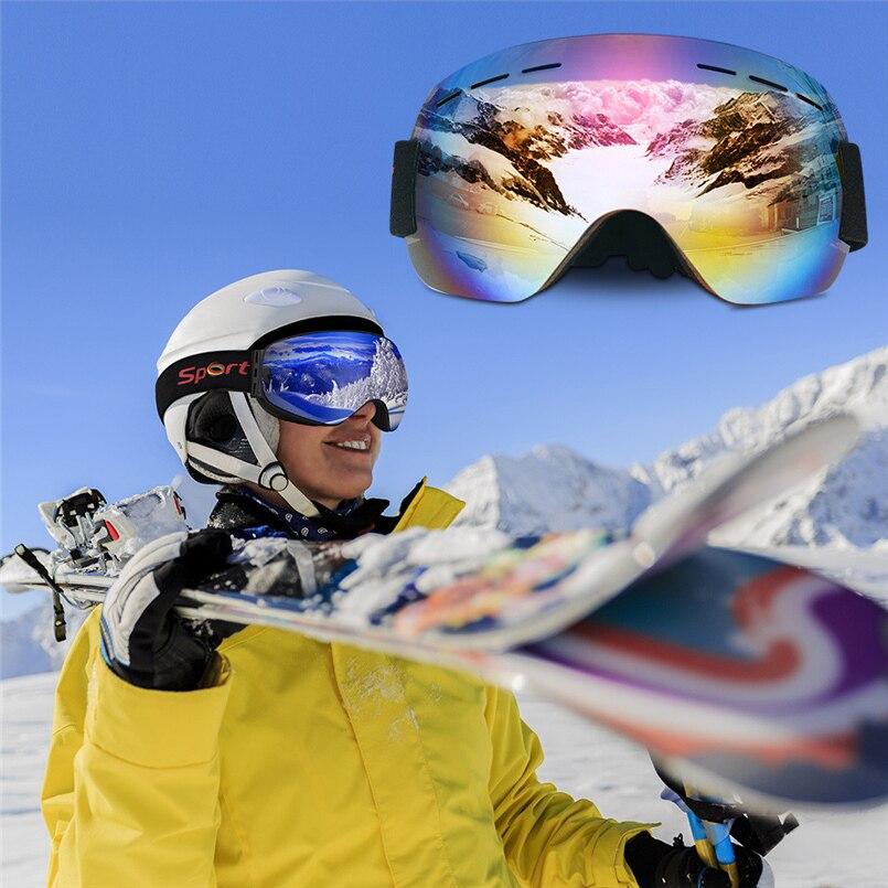 Unisex Snowboard Ski Goggles Skiing Adult Goggles Anti-fog UV Windproof Glasses