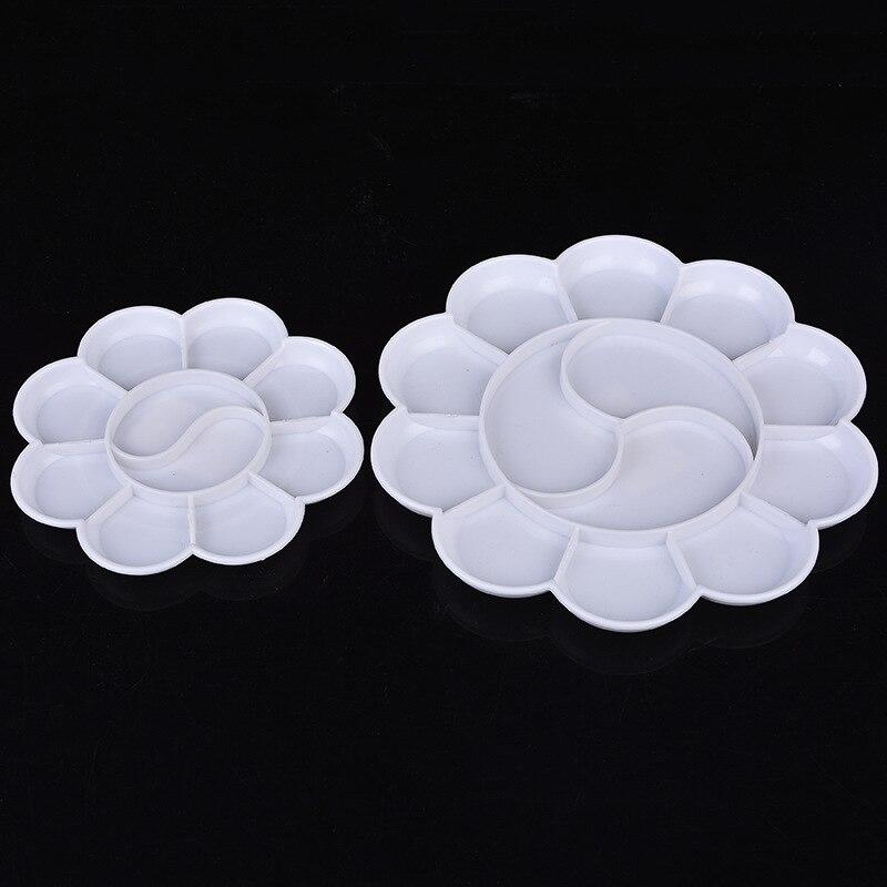 18.5cm Plum Plate Plastic Round Art Gouache Paint Palette Paint Coating Coloring Tools Student Tools Office Supplies