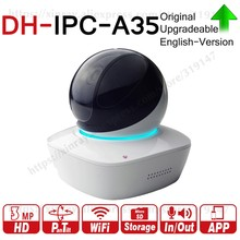 Dahua IPC-A35 IPC-A46 original 3MP WiFi Network PT Camera Support MIC Speaker Easy4ip Cloud With SD Card Slot Wireless(China)