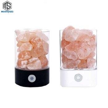 Lámpara de sal, cristal del Himalaya, piedra de sal natural, bloque de sal anión para purificar el bloque de aire, lámpara creativa de radiación electromagnética