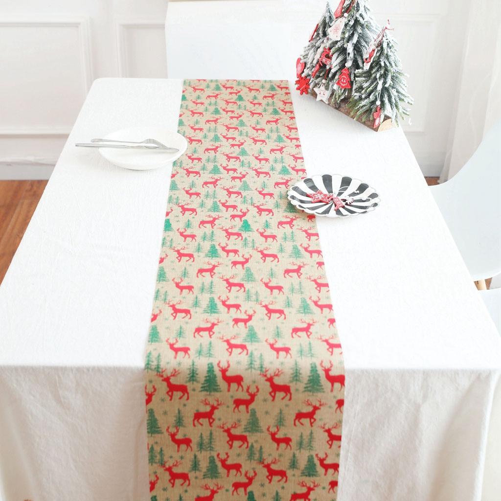 Christmas Table Mat Tablecloth Christmas Flag Party