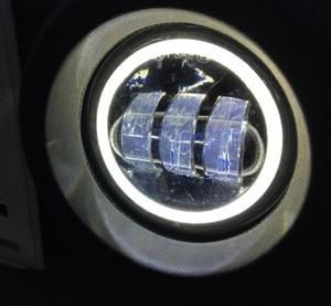 Image 3 - 4 inç yuvarlak Led sis ışık far 30W projektör lens ile Halo DRL lamba Offroad Jeep Wrangler Jk için dodge hummer H1